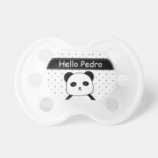 Chupeta Bebé preto e branco do Monochrome da panda