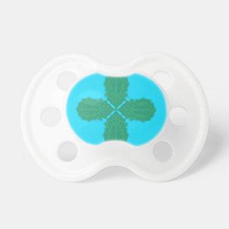 Chupeta Bio azul da mandala do design