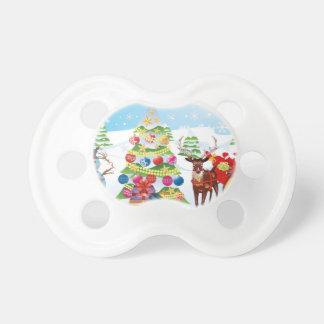 Chupeta Boneco de neve com Natal Tree2