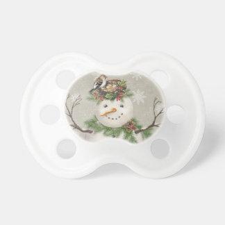 Chupeta boneco de neve moderno do wintergarden do vintage