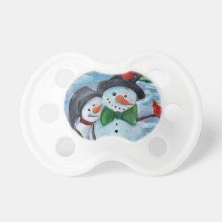 Chupeta Bonecos de neve de visita cardinais