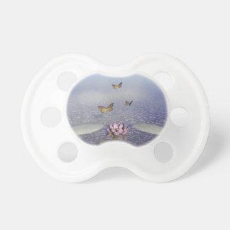 Chupeta Borboletas em vôo em uma paisagem do zen