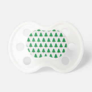 Chupeta branco novo do verde do design do Natal