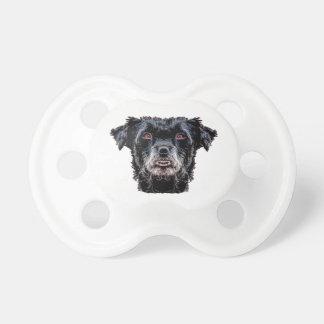 Chupeta Cabeça de cão preto do demónio