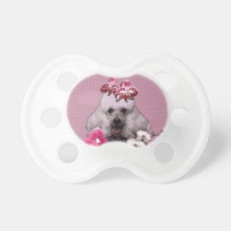 Chupeta Caniche cor-de-rosa 0-6 meses de Pacifier de