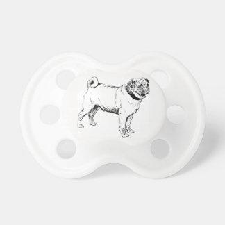 Chupeta Cão do Pug 0-6 meses de Pacifier de BooginHead®