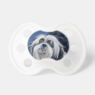 Chupeta Cão pequeno brincalhão preto e branco