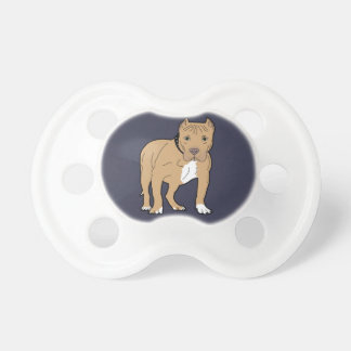 Chupeta Cão personalizado de Pitbull do americano