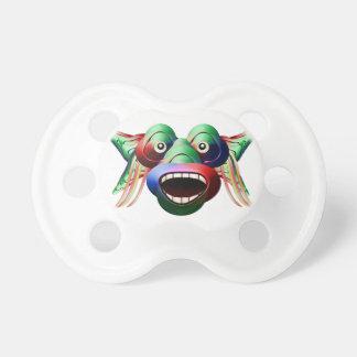 Chupeta Cara engraçada futurista do caráter do monstro