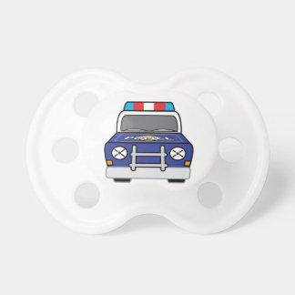 Chupeta Carro-patrulha azul corajoso da polícia