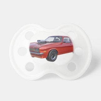 Chupeta carro vermelho do músculo dos anos 70