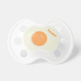 Chupeta Clara de ovos e gema engraçadas, personalizadas