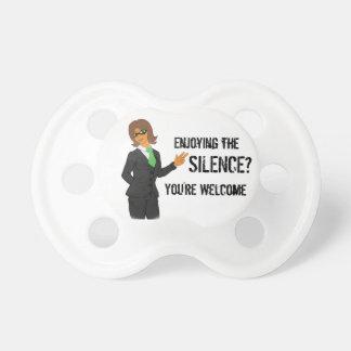 Chupeta Clique B8 pelo silêncio da boa vinda do Pacifier