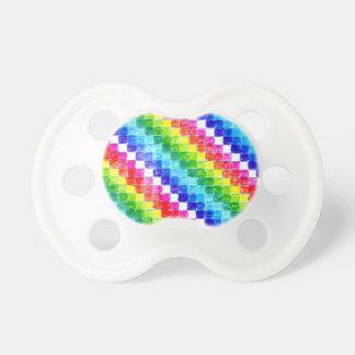 Chupeta Colorido em quadrados do papel de gráfico