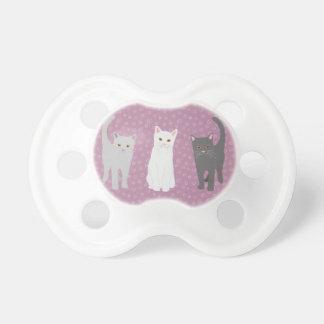 Chupeta com motivo de gato lilás