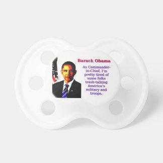 Chupeta Como o comandante-chefe - Barack Obama