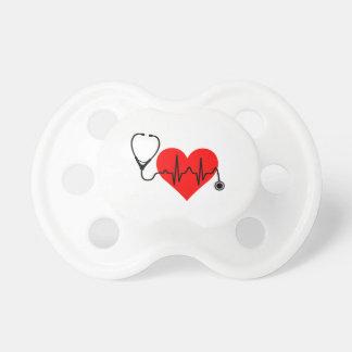 Chupeta Coração da pulsação do coração do estetoscópio