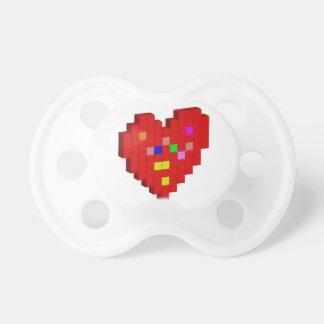 Chupeta coração de 8 bits
