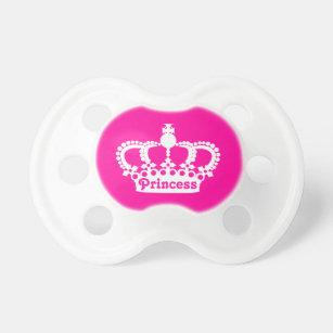Chupeta Coroa da princesa do rosa quente 561d09bc6c5