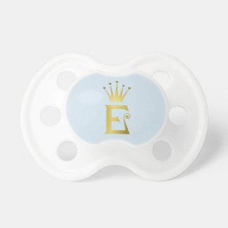 Chupeta Coroa do monograma do Pacifier do bebê da letra