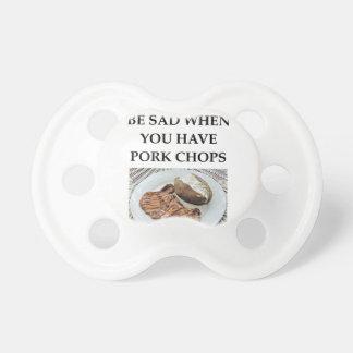 Chupeta costeletas de carne de porco