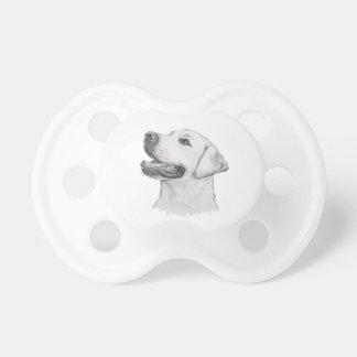 Chupeta Desenho clássico do perfil do cão de labrador