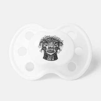 Chupeta Desenho da cabeça do monstro da fantasia