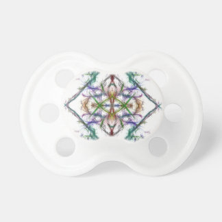 Chupeta Desenho geométrico no fundo branco