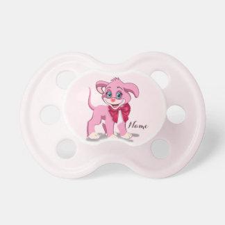 Chupeta Desenhos animados do filhote de cachorro do rosa