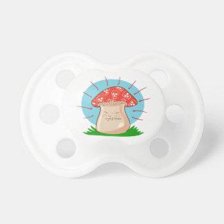 Chupeta desenhos animados engraçados do cogumelo irritado