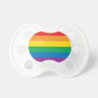 Chupeta Design colorido do arco-íris do orgulho |