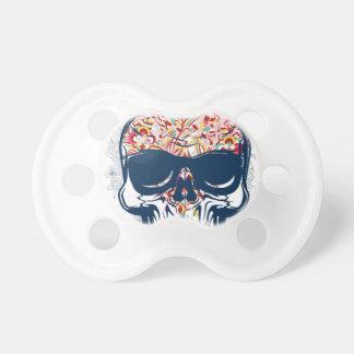Chupeta design colorido do crânio zombi inoperante