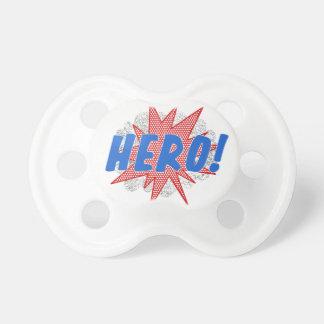 Chupeta Design da estrela do herói