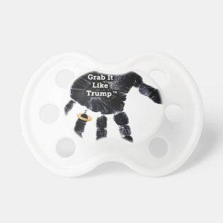 Chupeta Design de Handprint com anel com garra gosta do