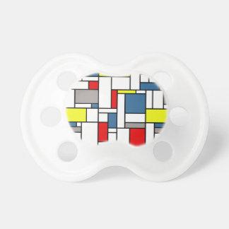 Chupeta Design do estilo de Mondrian