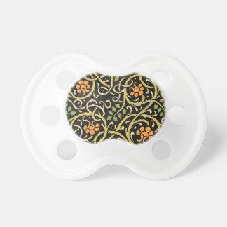 Chupeta Design floral preto do impressão da arte de