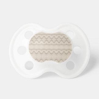 Chupeta Design tribal do teste padrão de ziguezague da