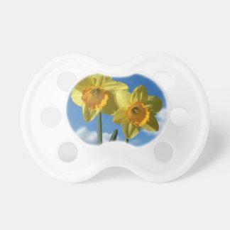 Chupeta Dois Daffodils amarelos 2,2