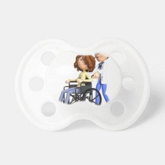 Chupeta Doutor Wheeling Paciente Cadeira de rodas dos