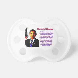 Chupeta E contanto que povos livres - Barack Obama