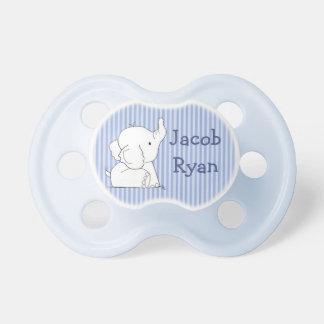 Chupeta Elefante personalizado do bebé no Pacifier da