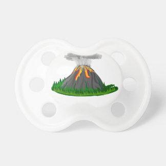 Chupeta erupção e fogo do vulcão