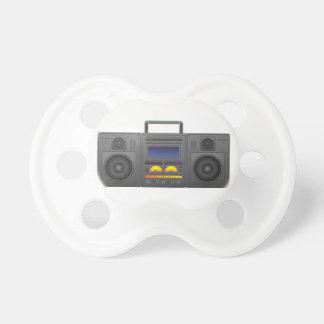 Chupeta estilo Boombox de Hip Hop dos anos 80