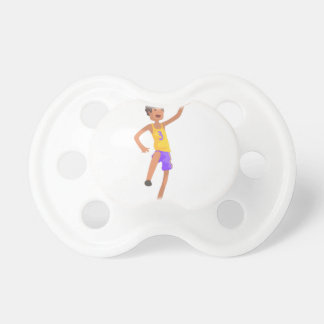 Chupeta Etiqueta de salto da ação do jogador de