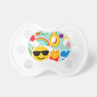 Chupeta Etiqueta Pattwern de Emoji do divertimento