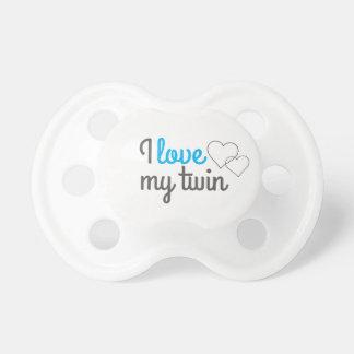 Chupeta Eu amo meu pacifier gêmeo
