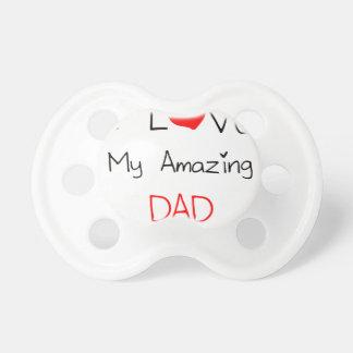 Chupeta Eu amo meu pai surpreendente