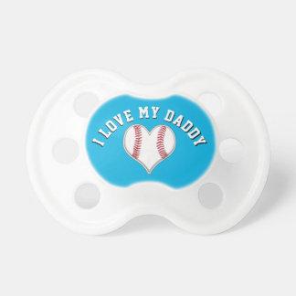 Chupeta Eu amo meus Pacifiers do basebol do pai em suas
