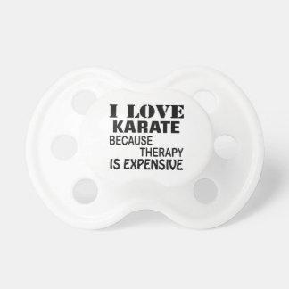 Chupeta Eu amo o karaté porque a terapia é cara