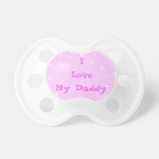 Chupeta Eu amo Pacifiers cor-de-rosa dos Pacifiers do pai